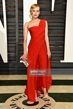 Nyhetsfoto : Actress Diane Kruger attends the 2015 Vanity Fair...