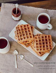 Une recette de gaufres gourmandes sans gluten ni lactose, parfaite pour le petit-déjeuner ou le goûter