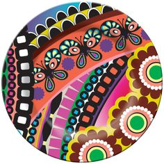 French Bull, Butterfly, Melamine, Plate, Bright, Colorful, Fun, Indoor, Outdoor, Entertaining, Every Day, Happy