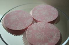 Pink Chocolate and White Damask Chocolate Covered Oreos. $22.00, via Etsy.