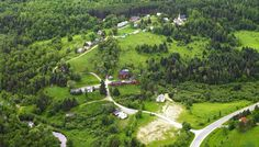 An aerial view of part of the village of Canadiana. The total site covers more than 65 acres.