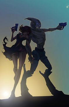 Shepard and Garrus... As it is~**