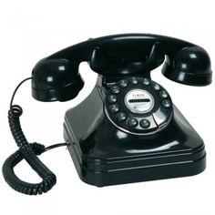 Idée cadeau crémaillère, le téléphone rétro noir chicago  - La Chaise Longue