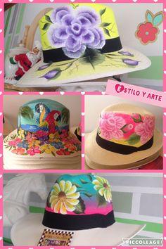 Sombreros pintados a mano Painted Hats, Hand Painted, Elsa, Waves, Cap, Clothing, Flowers, Handmade, Shirts