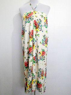 vintage ESPRIT ivory / cream floral wrap around by VintageHomage, $24.00