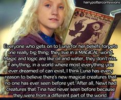 Everyone who gets on to Luna for her beliefs forgets one really...