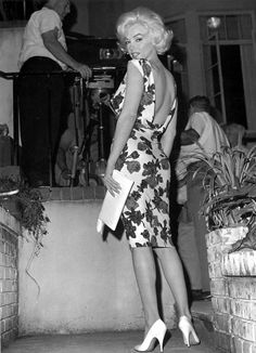Marilyn Monroe photographed on the set of Something's Got to Give, 1962.
