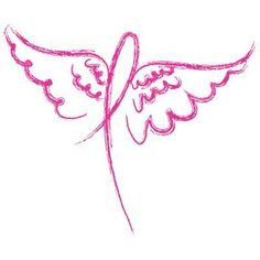 Breast Cancer Angel Ribbon Womens or Juniors T Shirt Pnk Blk or White | eBay