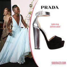 Lupita Nyong'o in Prada Ankle-Strap Platform Sandals - ShoeRazzi