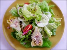 Garden Salad with Hint of Olive Dressing