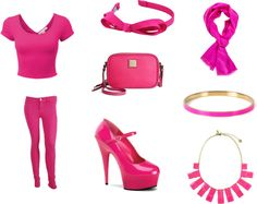 """""""Hot Pink Outfit"""" by holly32196 on Polyvore"""