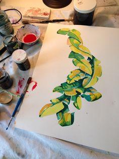 Painting palms//