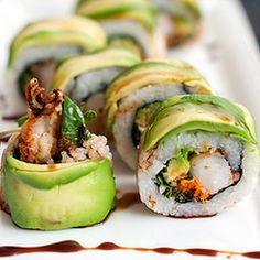 Dragon roll! My all time favorite!!!! I crave this constantly and have no where to get it. :(  I know, it's a sad story....