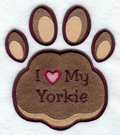 I Love My Yorkie Pawprint