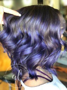 Purple hair, purple balayage