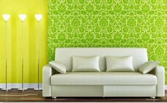 Awesome #Color #Paint Tips : Wall Combined With Flat Yellow Wall Paint Color Wall Texture And Paint  If you need more beautiful and attractive color paint suggestion for your home just contact us @ +91 9425072757 or Visit our showroom with your family.   M.K. Barwaniwala 87/2 Siyaganj Main Road Indore (M.P)