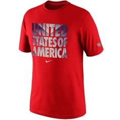 Nike USA Core Type T-Shirt - Red