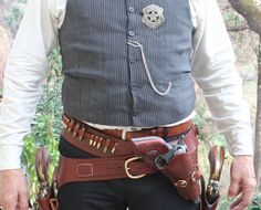 Now that's a real six gun rig for lawmen Cowboy Holsters, Western Holsters, Gun Holster, Leather Holster, Colt Single Action Army, Cowboy Action Shooting, Cowboy Gear, The Lone Ranger, Le Far West