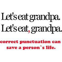 punctuation can save a person's life