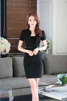aa889de88123 Details about Women Summer OL Business Blouse Jacket Skirt Suit Formal Short  Sleeve Workwear. Work Wear OfficeOffice UniformLadies ...