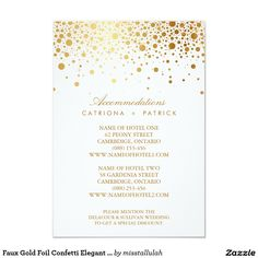 Faux Gold Foil Confetti Elegant Accommodations Car