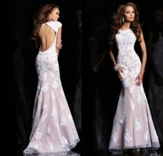 2013 Long Mermaid Party Formal Evening Wedding Gown Ball Prom Cocktail Dresses