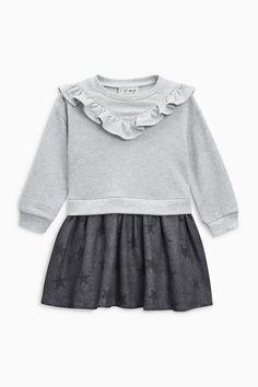 Купить Серое трикотажное платье (3 мес.-6 лет) на Next Казахстан