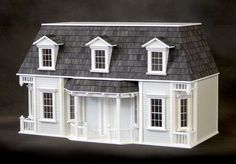 SALE - Romantic Shabby Chic Parisian Chateau Dollhouse Kit, 3 Treasury Lists, Scale One Inch