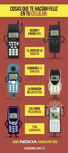 Aquellos antiguos Nokia #infografia