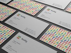 Radity business cards were desiged by Paulius Kairevičius, a freelance Logo / Corporate Identity designer.