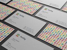 Radity business cards were desiged by Paulius Kairevičius, a freelance Logo / Corporate Identity designer.