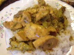 Easy Lemon Chicken Crock Pot Slow Cooker, Slow Cooker Chicken, Slow Cooker Recipes, Crockpot Recipes, Lemon Chicken, Chicken Pasta, Broccoli Beef, Curry Powder, Recipe For 4