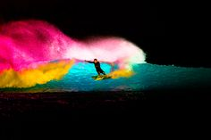 LSD fantasy meets LED reality in the United Arab Emirates most famous wave pool.