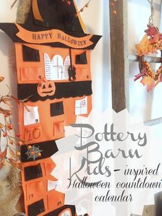 DIY Pottery Barn Kids Inspired Halloween Countdown Calendar from The Creek Line House.