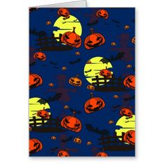 Scary Halloween Cards and invitation
