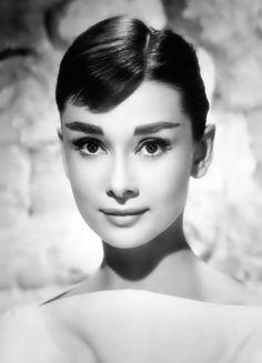 Audrey Hepburn beautiful woman celebrity female face portrait photograph…