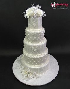 5 Tier Classic Wedding Cake by Yenners Way