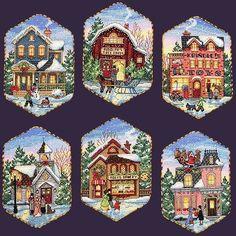 Christmas-Village-Ornaments0.jpg (500×500)