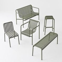 Outdoor furniture range by the Bouroullec brothers: http://www.dezeen.com/2015/09/04/bouroullec-brothers-design-palissade-striped-outdoor-furniture-hay-maison-objet-2015/… #design