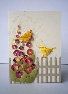 Honey Bird Impressions by Misstreez - Cards and Paper Crafts at Splitcoaststampers Handmade Birthday Cards, Greeting Cards Handmade, Impression Obsession Cards, Hollyhocks Flowers, Mother Card, Paper Crafts, Diy Crafts, Paper Art, Bird Cards