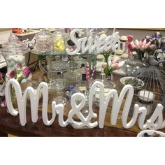 Our Mr & Mrs Wooden Sign.  Stands 20cm Tall and comes in over 10 painted colours. www.urbanwordsaustralia.com.au