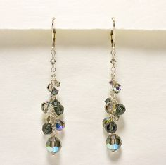 Black Diamond Crystal Twilight Earrings