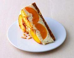 Peach cheesecake from Sweet Living Magazine