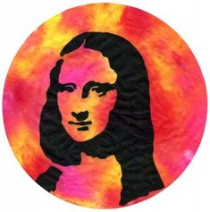 Trace Mona onto a coffee filter with a black Sharpie and paint while wet with liquid watercolor paint. PDF template available. #monalisa #popart #coffeefilter