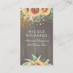 LOVELYWOW studio: products on Zazzle Wood Business Cards, Elegant Business Cards, Custom Business Cards, Business Card Size, Business Card Design, Harvest Decorations, Rustic Design, String Lights, Barn Wood