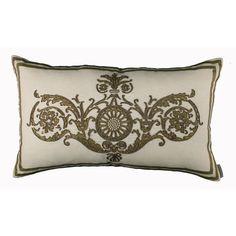 Lili Alessandra Paris Rectangle Pillow in White/Gold Linen @Demi Bredefeld Ryan #demiryanhome #homedesignboutique #design #shopping