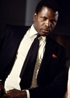 """sidney poitier """"They call me Mr Tibbs""""Heat of the night film where he has to try and get a Jim Crow Sheriff to work with him. Joel York"""