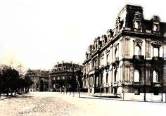 Palaces in Buenos Aires, from Ines Ortiz Basualdo de Peña the first one, the second one from Mrs. Mercedes Castellanos de Anchorena (today the palace San Martin) at San Martin Square year 1901