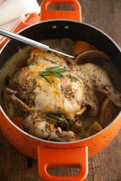 Slow Cooker Orange Rosemary Whole Chicken