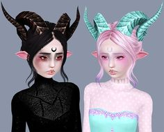 Sims 3 Anime Finds: Tera Horns Conversion by Ribbon Sims